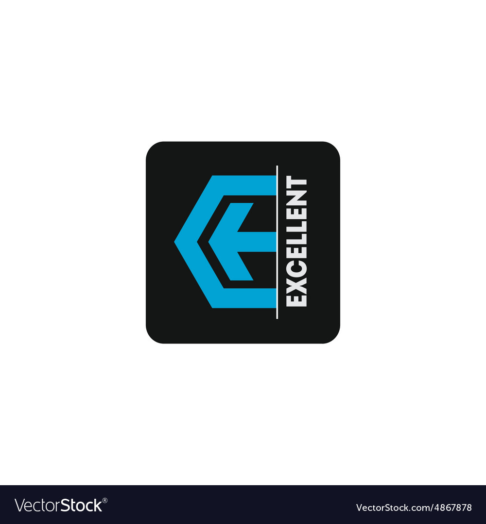 Logo template with arrow and stylized letter E