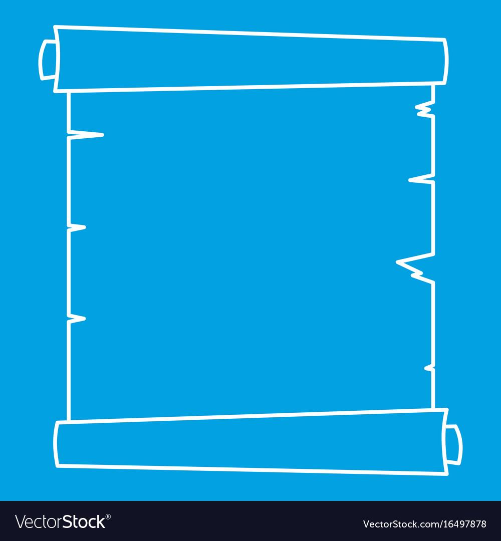 Retro scroll paper icon outline vector image