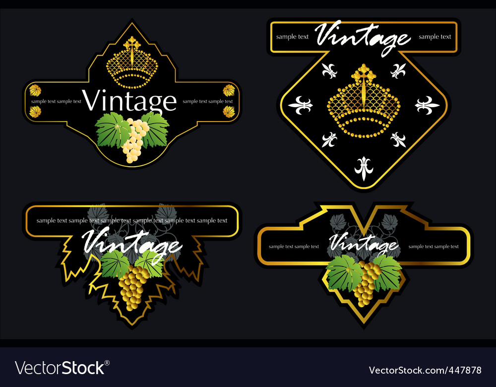 Wine labels11 vector image