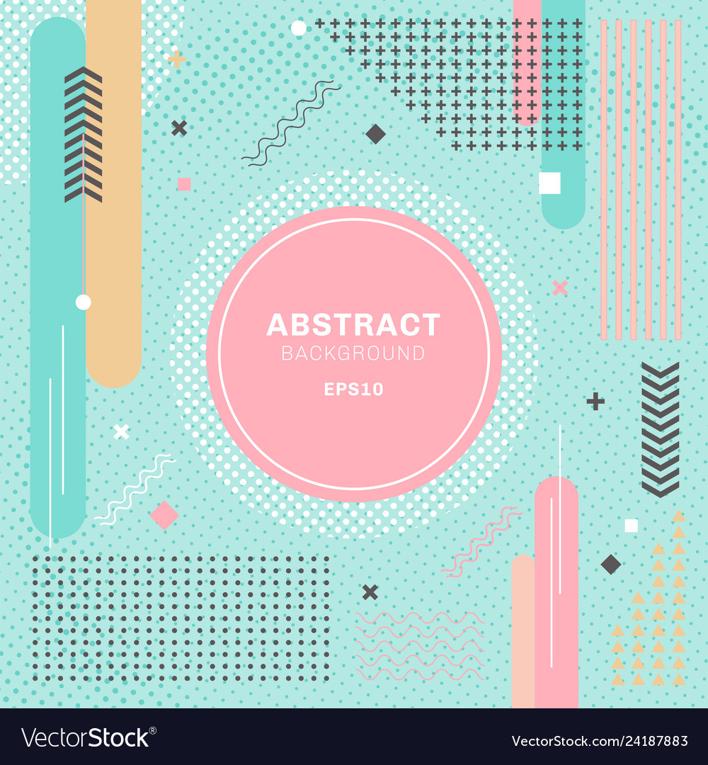 Abstract pastels color geometric elements