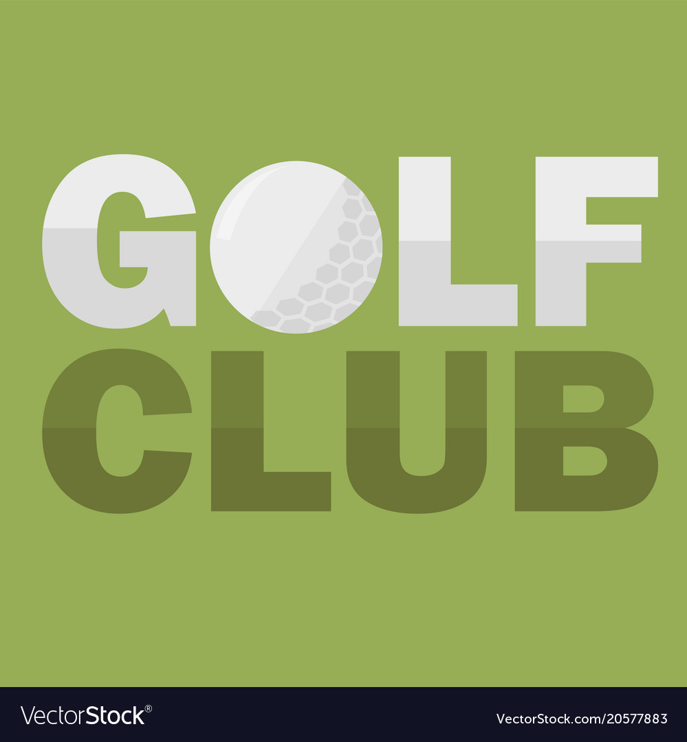Golf club logo design template in flat style