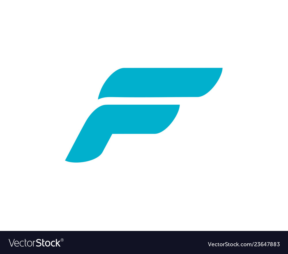 Letter f logo design abstract