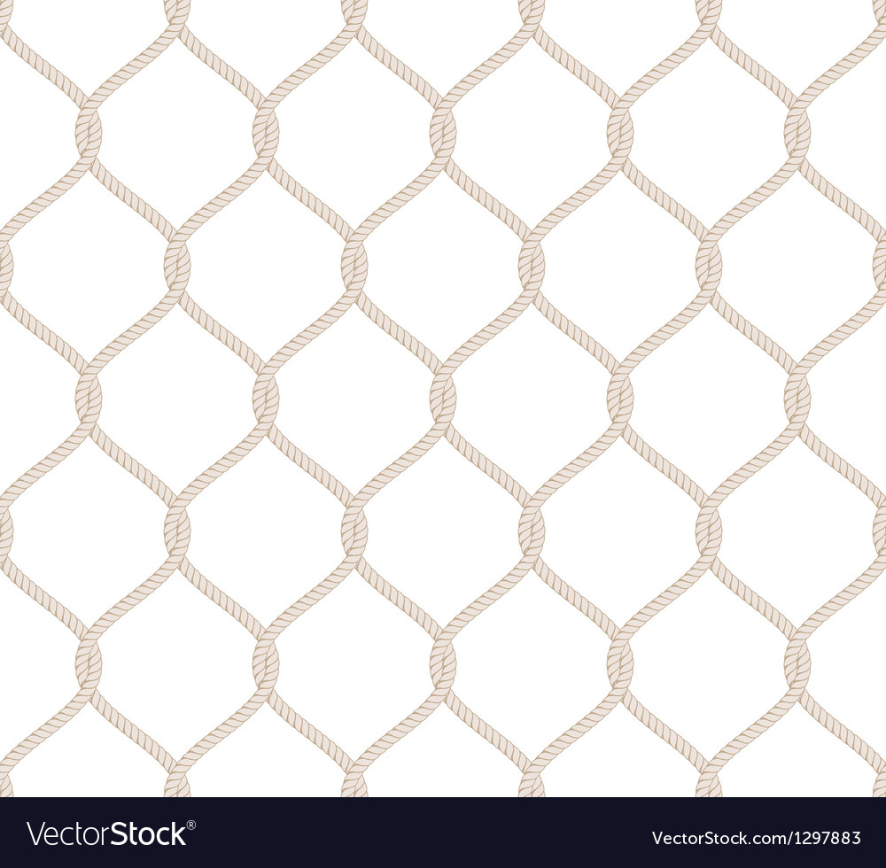 Rope Knot Seamless Pattern vector image