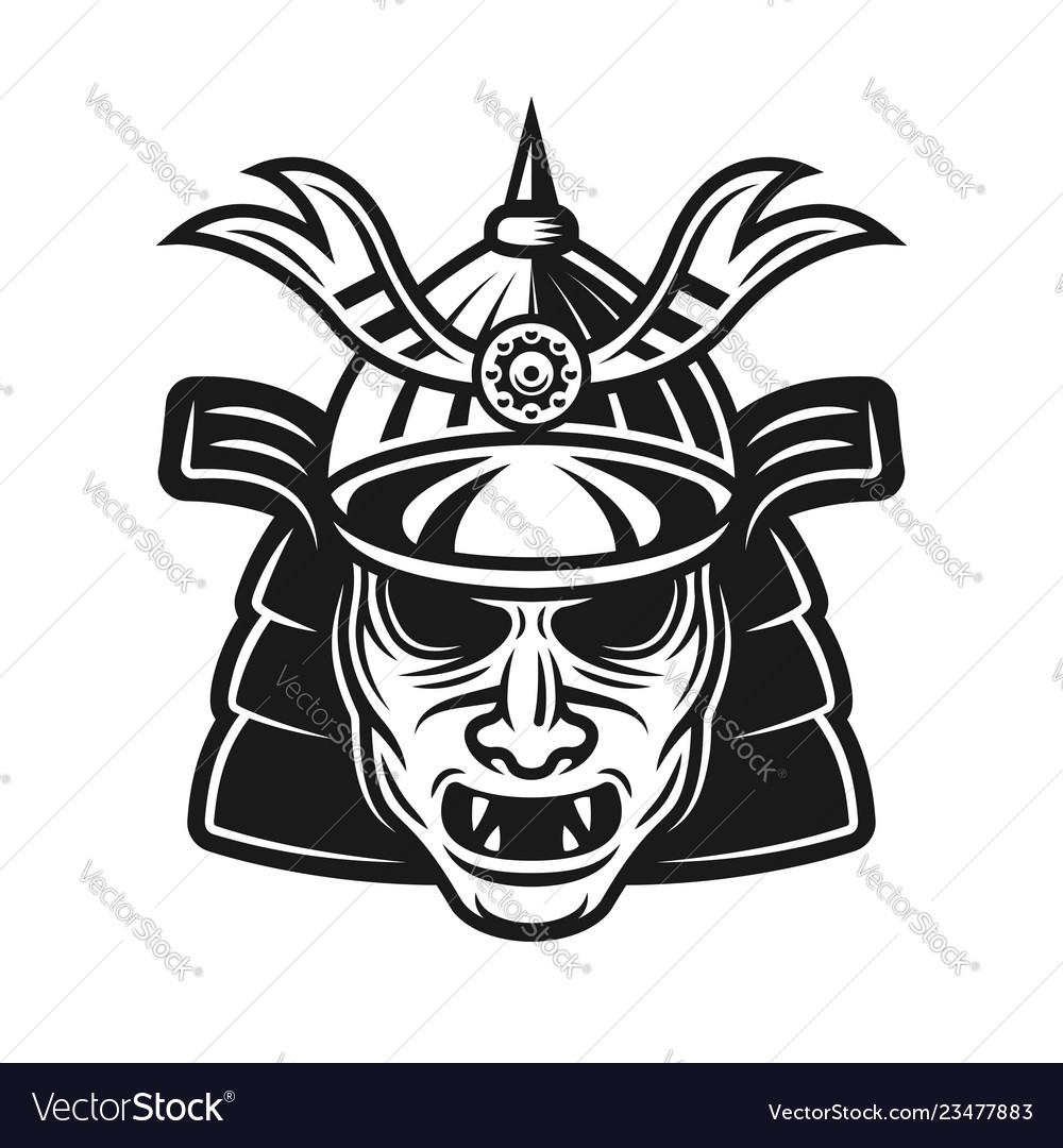 Samurai traditional japanese mask object