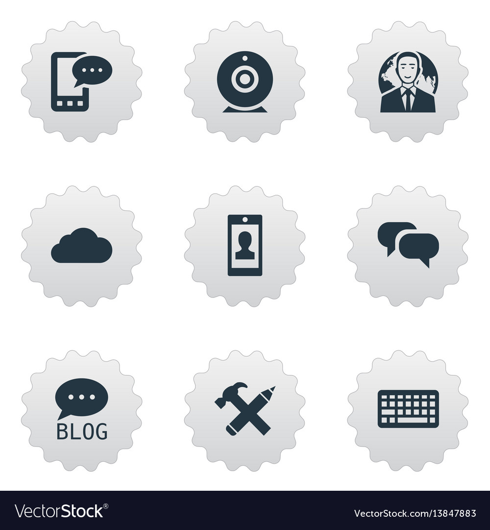Set of simple user icons