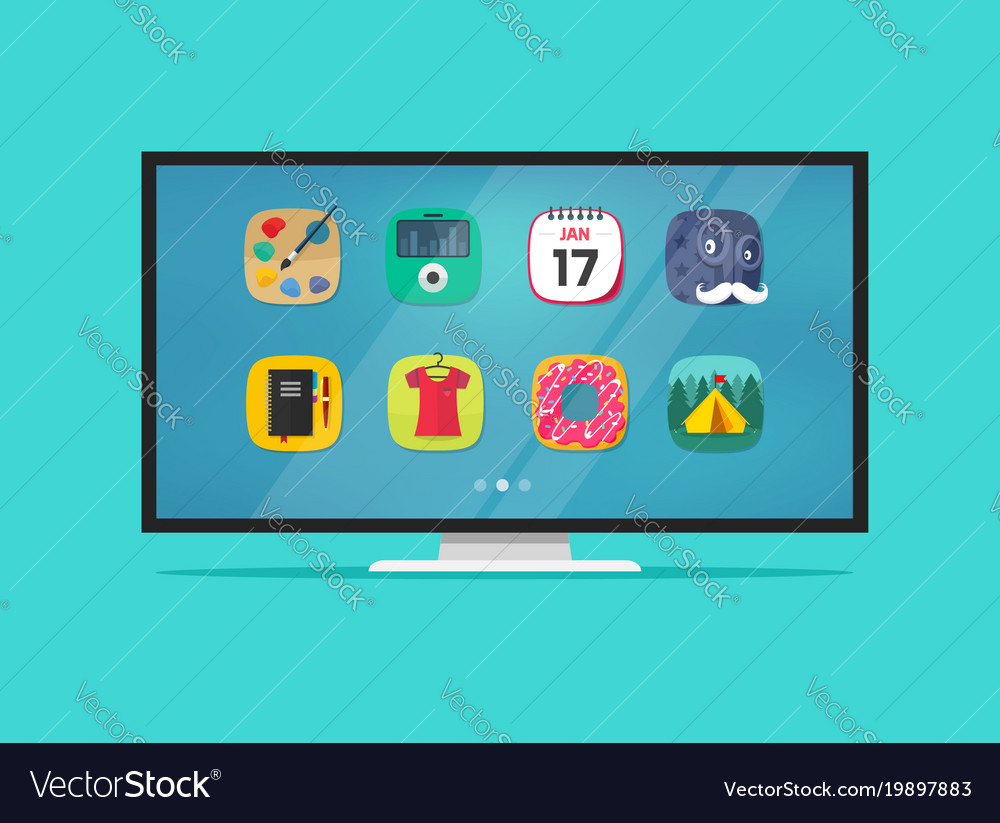 Smart television display vector image