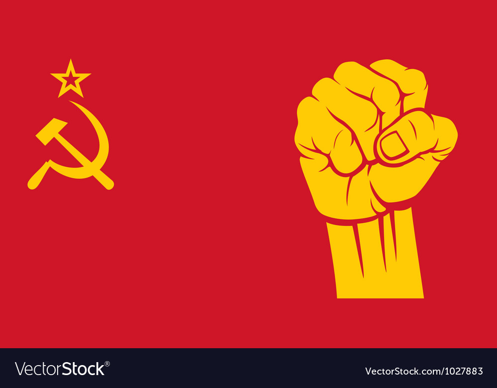 Ussr fist - flag of ussr