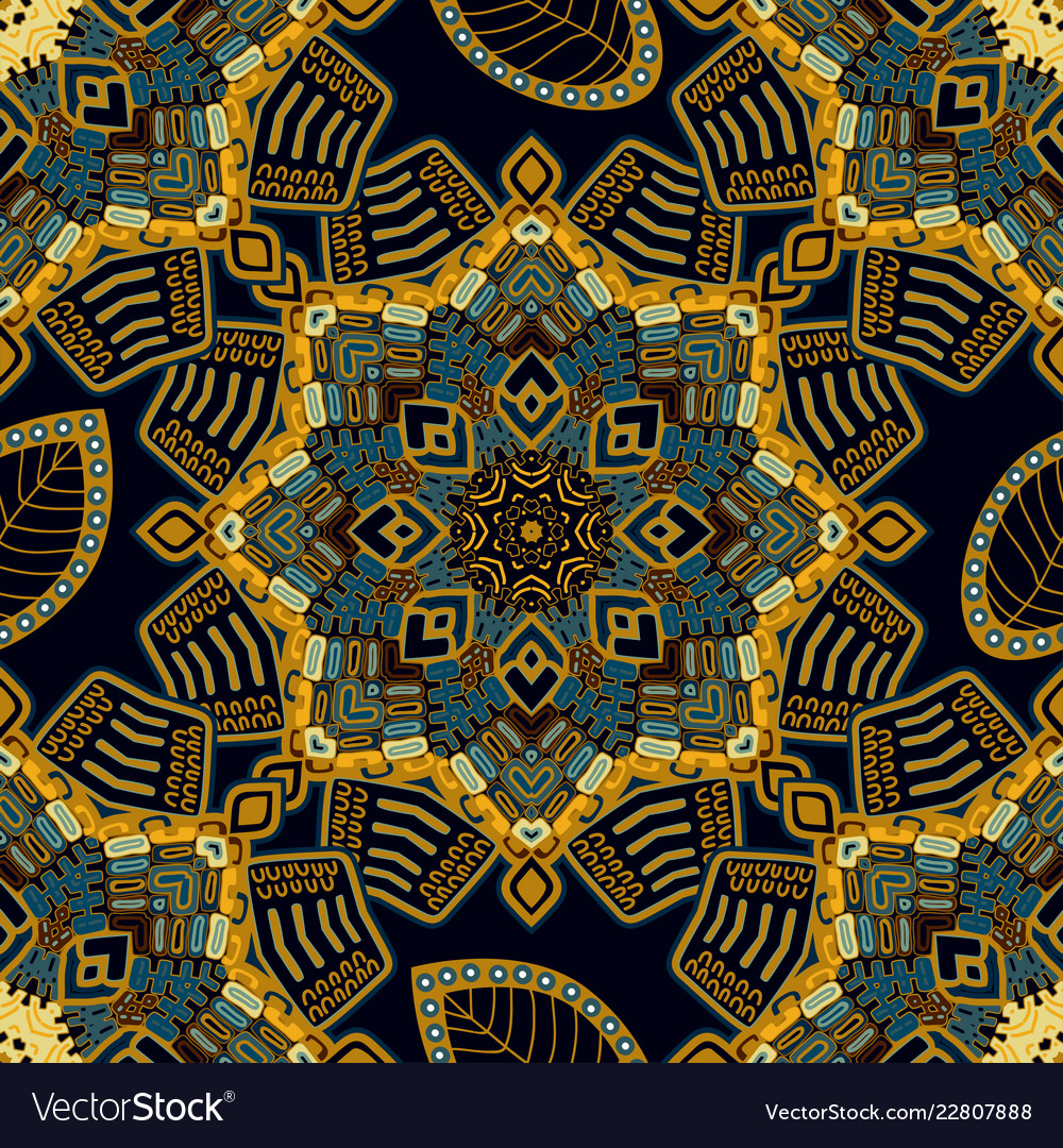 Abstract ornamental seamless pattern colorful
