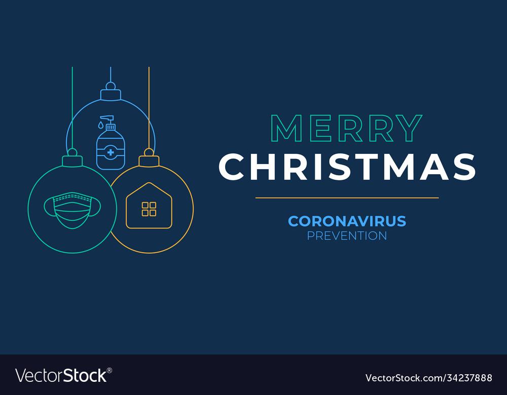 Christmas coronavirus ball banner
