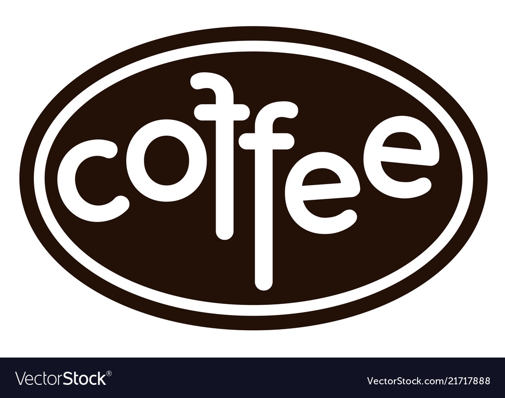 Coffee isolated coffee logo on white background