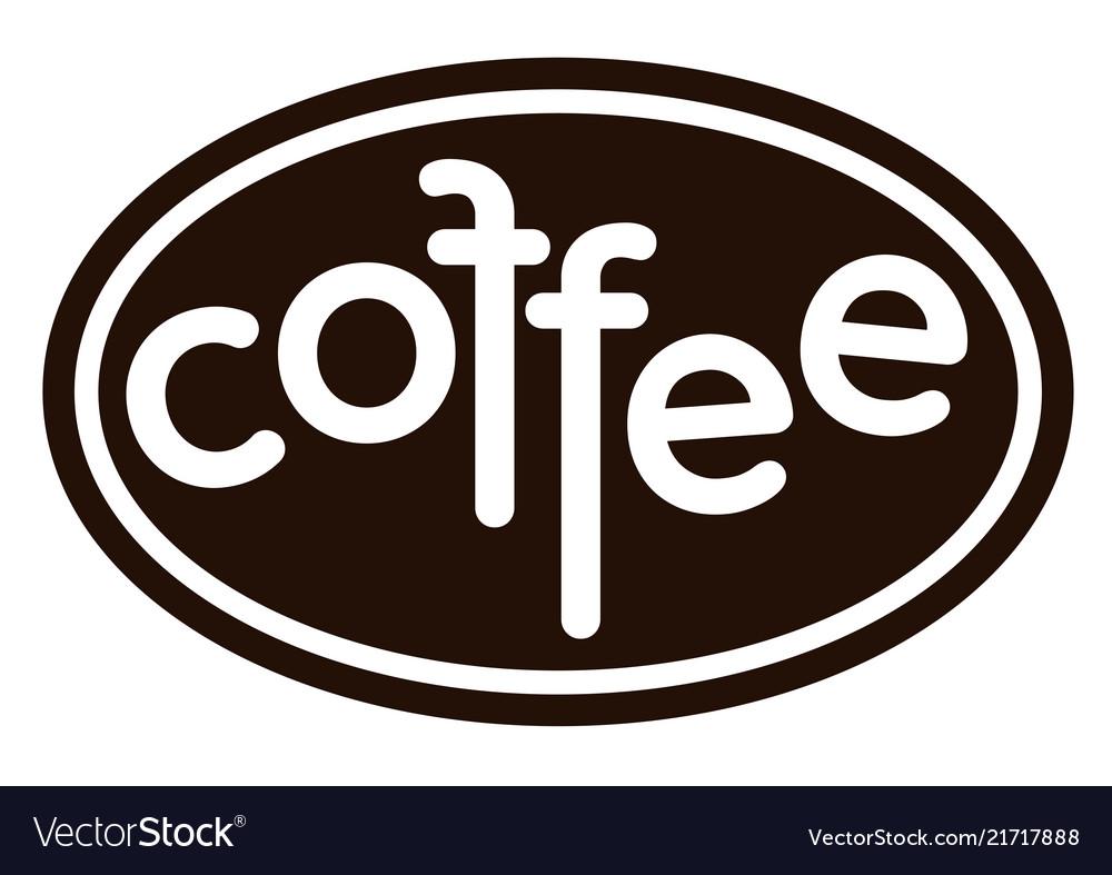 Coffee isolated logo on white background