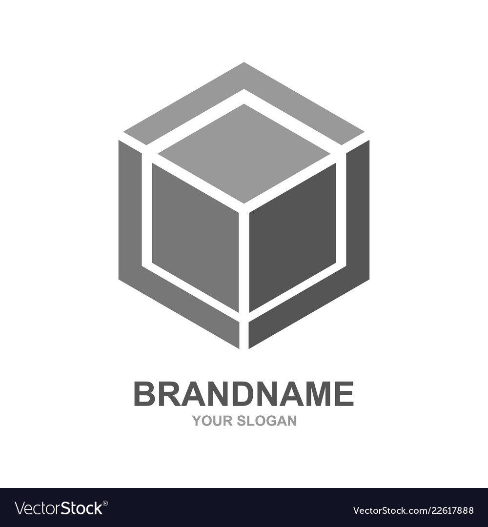 Cube logo design icon outbox