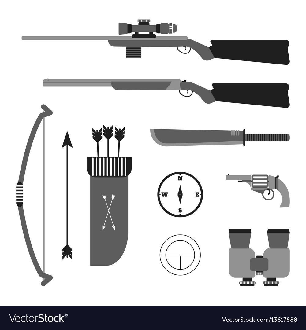 Hunting set flat style equipment