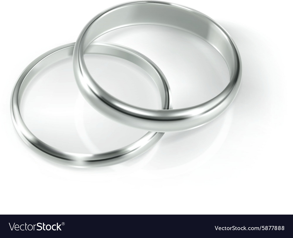 0c8500ce82 Pair of silver wedding rings Royalty Free Vector Image