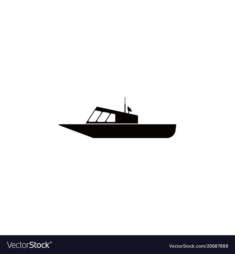 Police boat icon element of popular transport