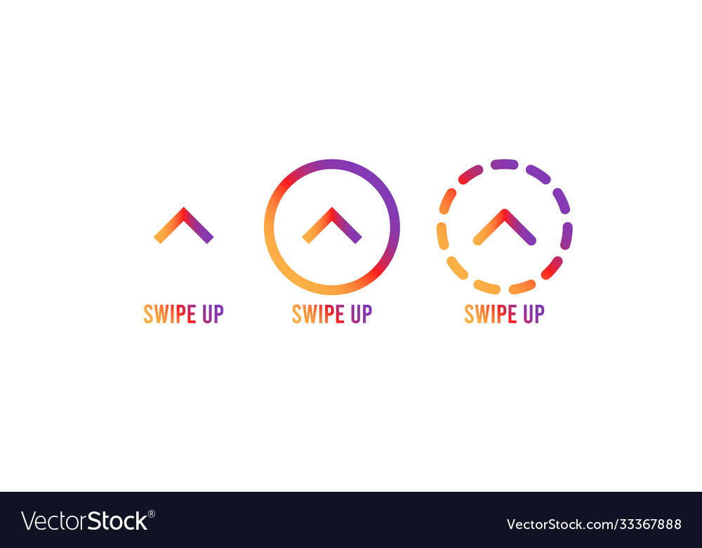 Swipe up set stories stories swipe button vector