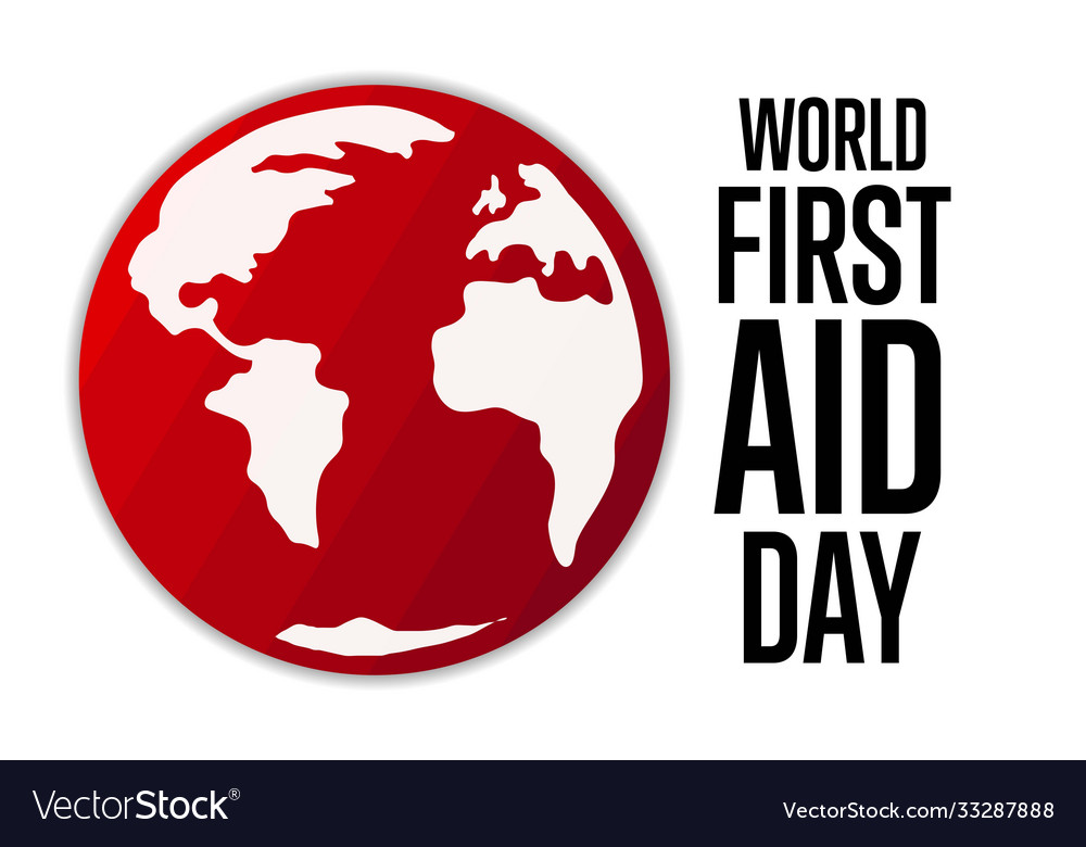 World first aid day holiday concept template