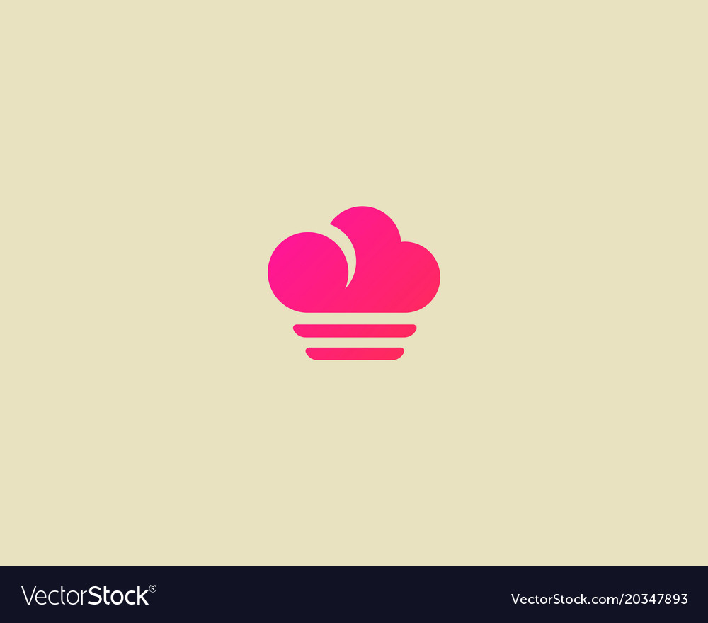Abstract cloud food logotype creative chef vector image