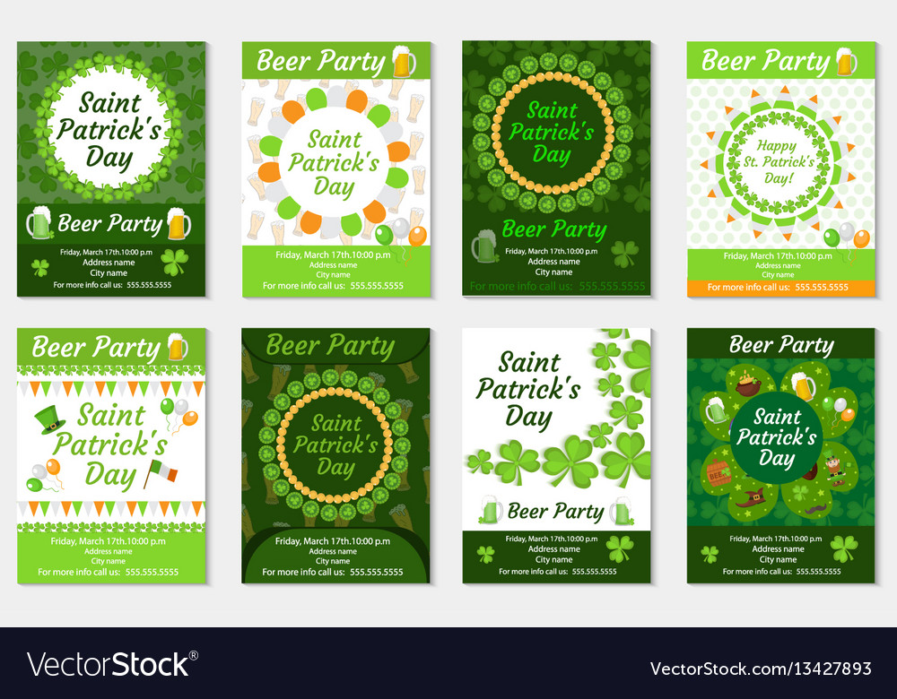 Collection of st patrick s day invitation poster