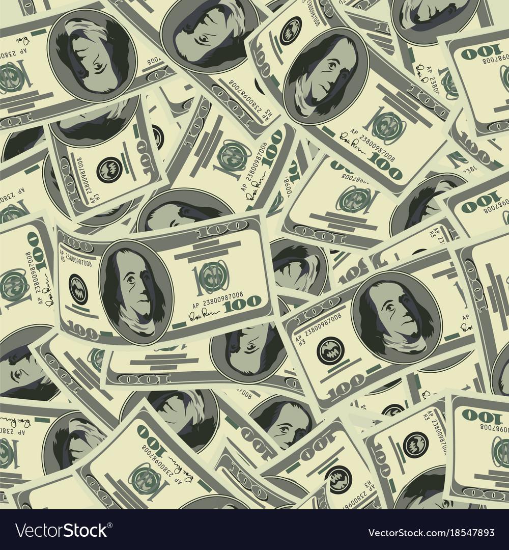 Dollar seamless pattern