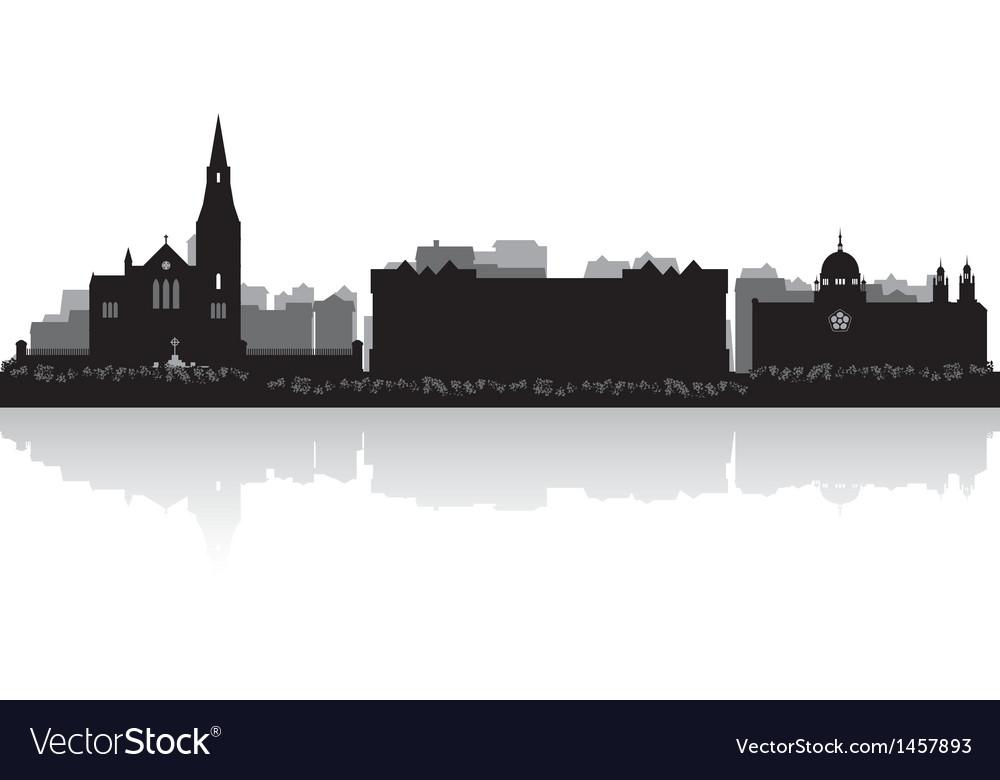 Galway city skyline silhouette