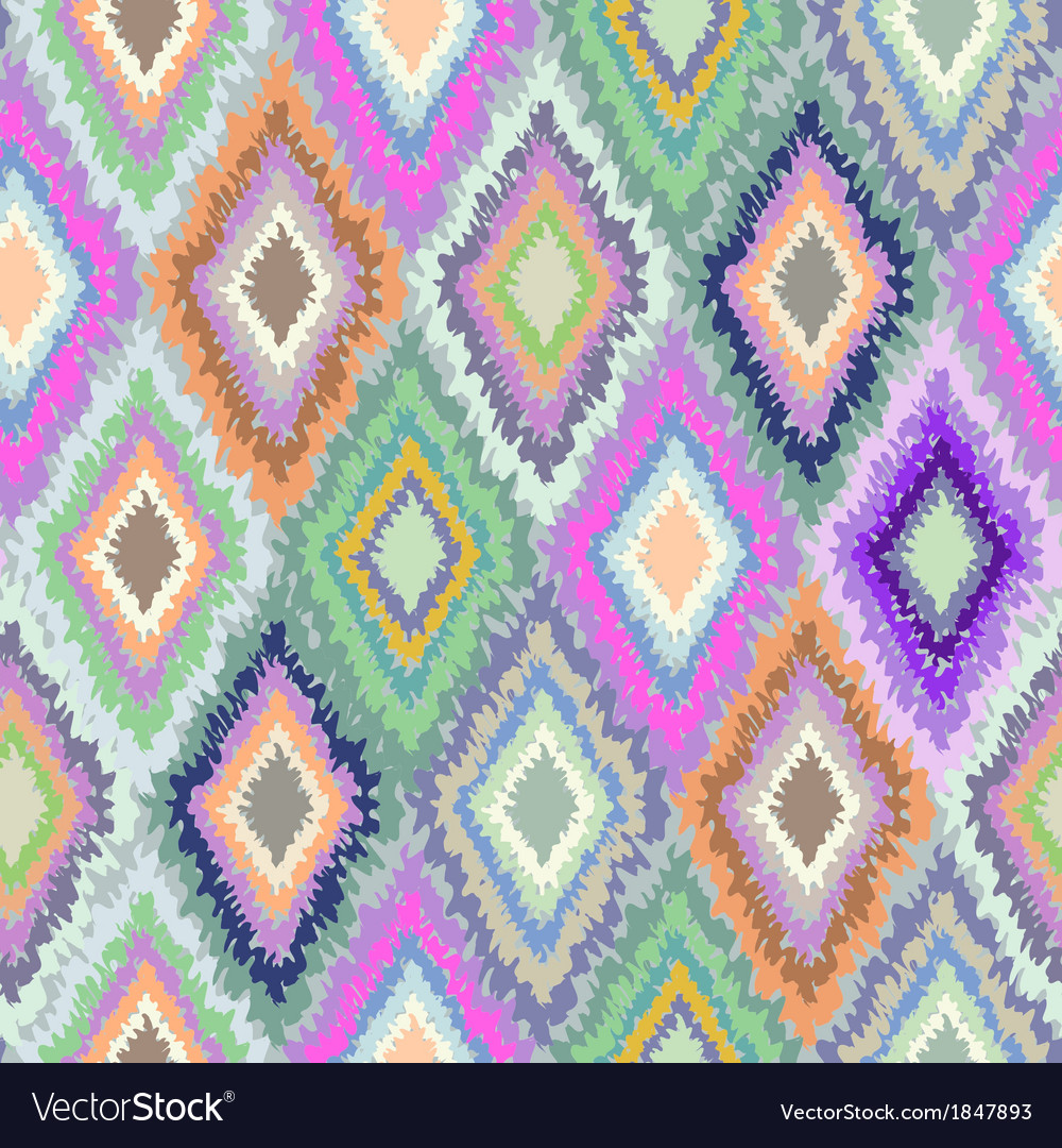 Pretty Geometric Ikat print