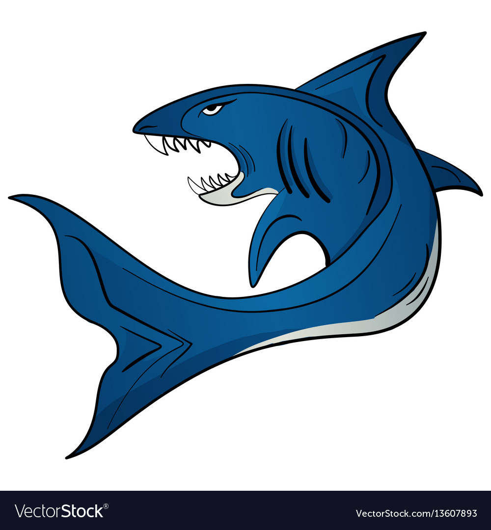 Toothy white shark