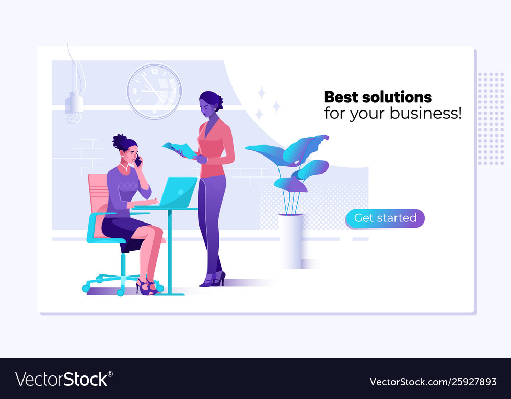 Web page design template - business