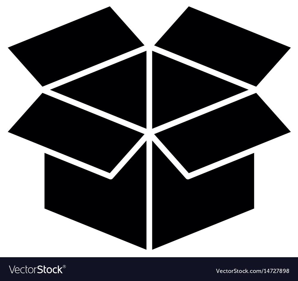 Box Open Symbol Royalty Free Vector Image Vectorstock