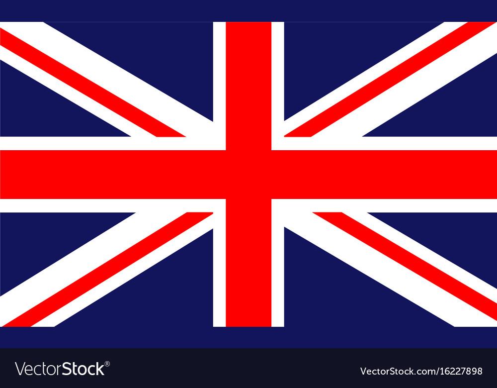 british flag royalty free vector image vectorstock rh vectorstock com british flag vector art free british flag vector free