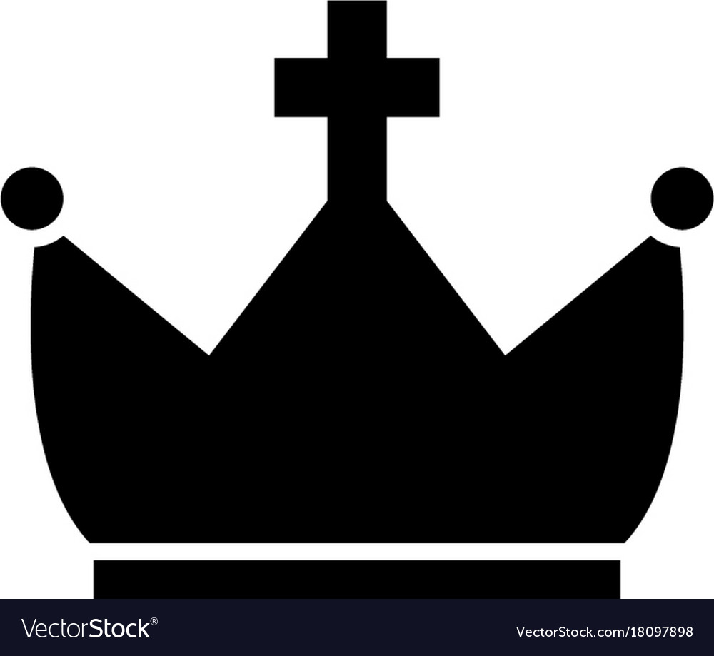 Crown with cross icon black