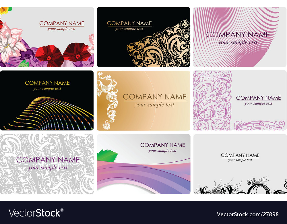 Glamour fashion business cards royalty free vector image glamour fashion business cards vector image reheart Images