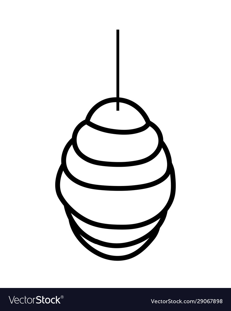 Hanging honeycomb hive icon design thick line