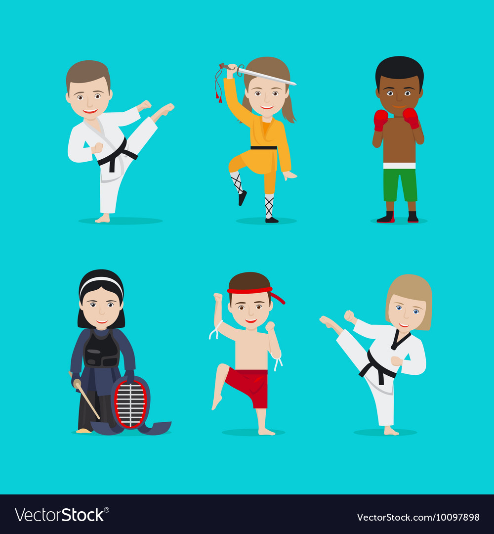 Kids martial arts icons