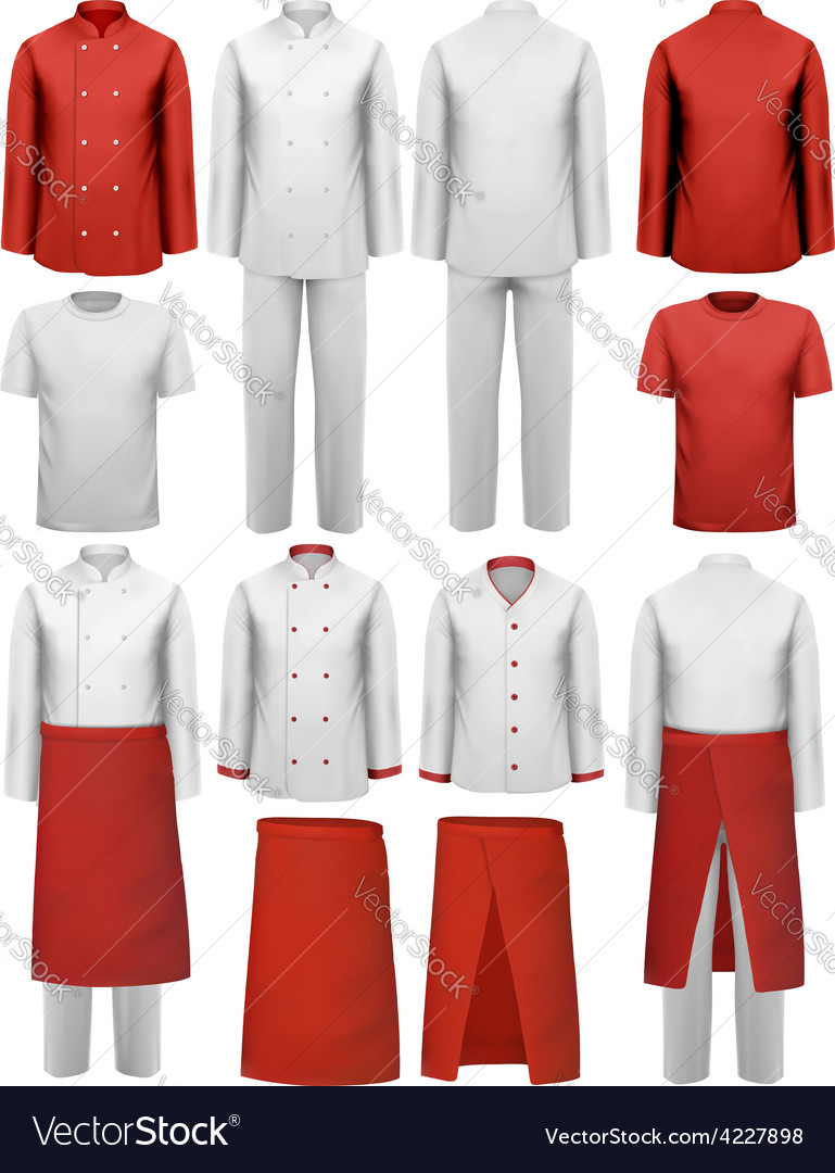 Set of cook clothing - aprons uniforms