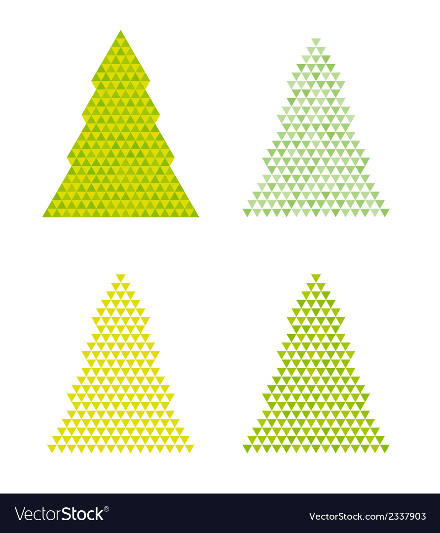 Abstract trees with reversed triangle on the top