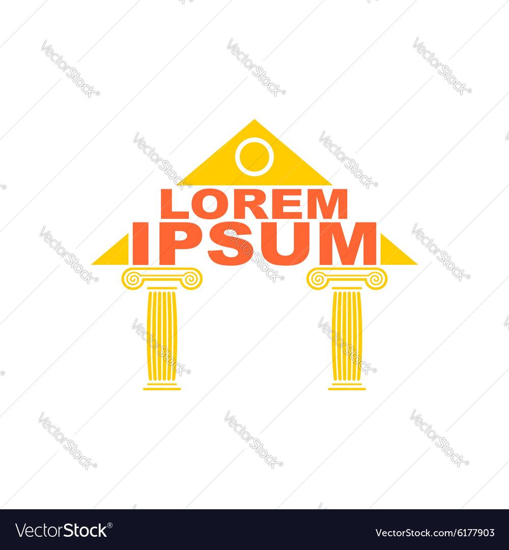Architectural logo Greek temple columns logo The
