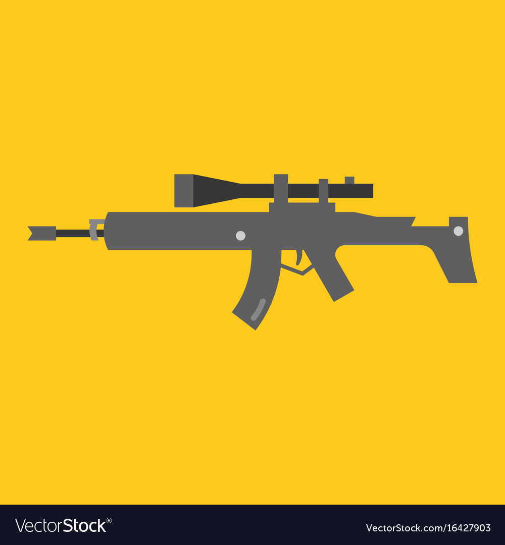 Auto rifle vector image