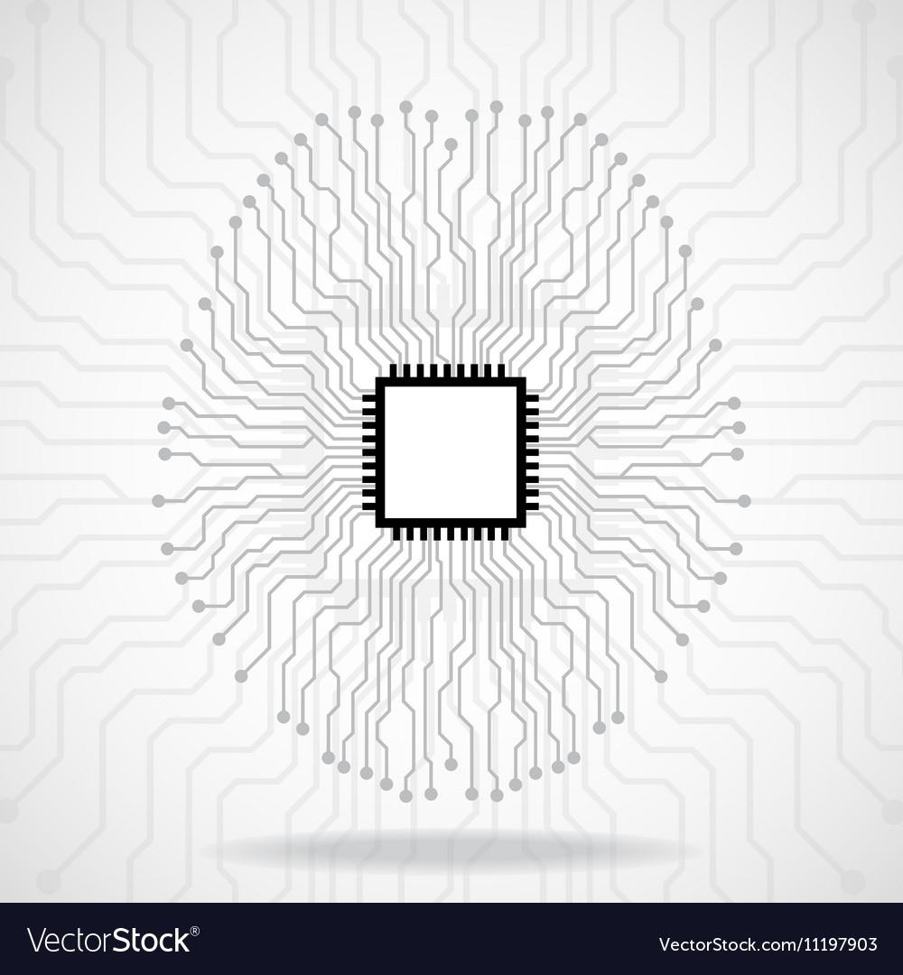 Brain Cpu Circuit board Abstract technology