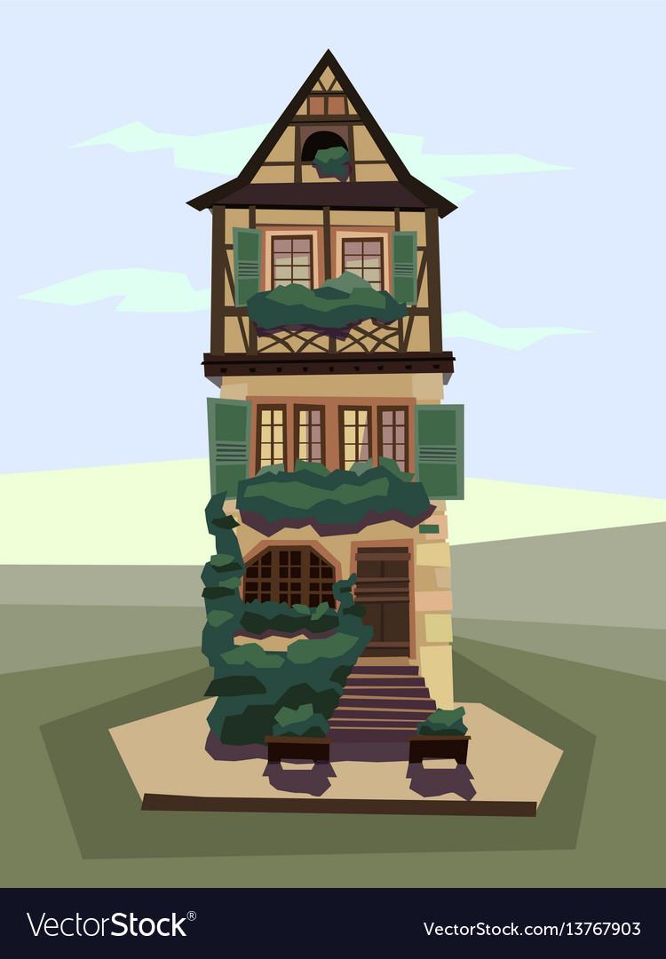 Cartoon house building