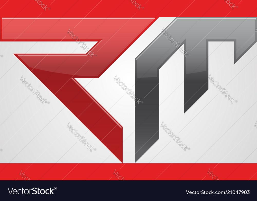creative letter rm logo concept design royalty free vector vectorstock