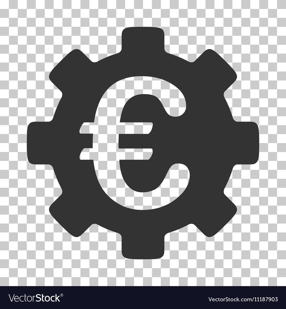 Euro Development Gear Icon vector image