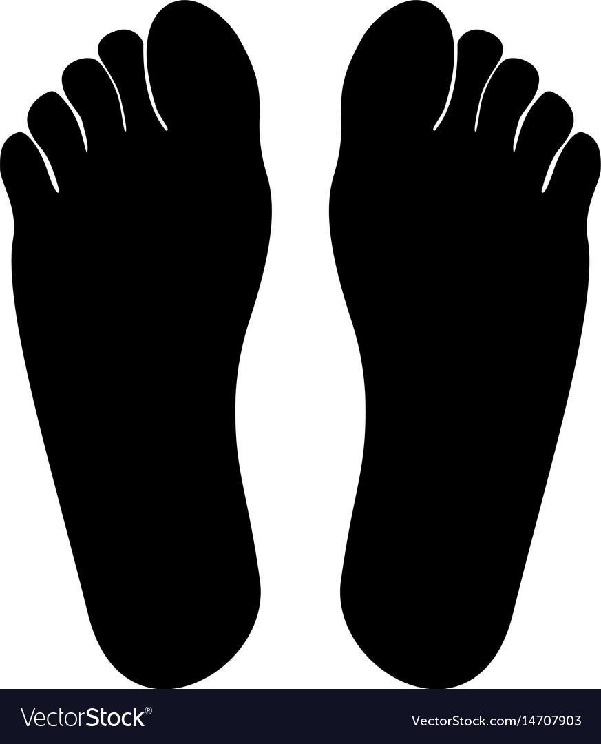 Footprint heel black color icon vector image