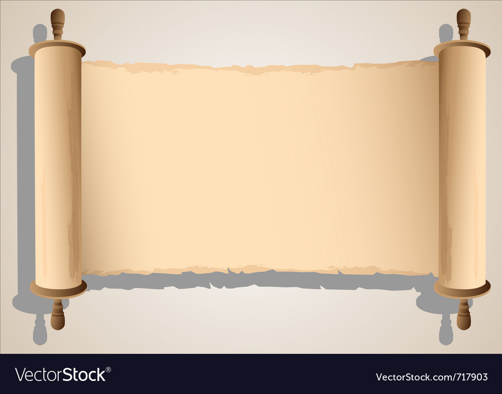 Old scroll banner vector image