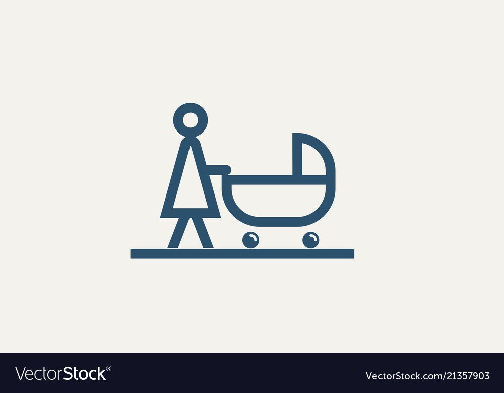 Pictograph mother with bastroller