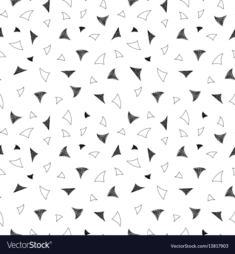 Retro seamless pattern in memphis style