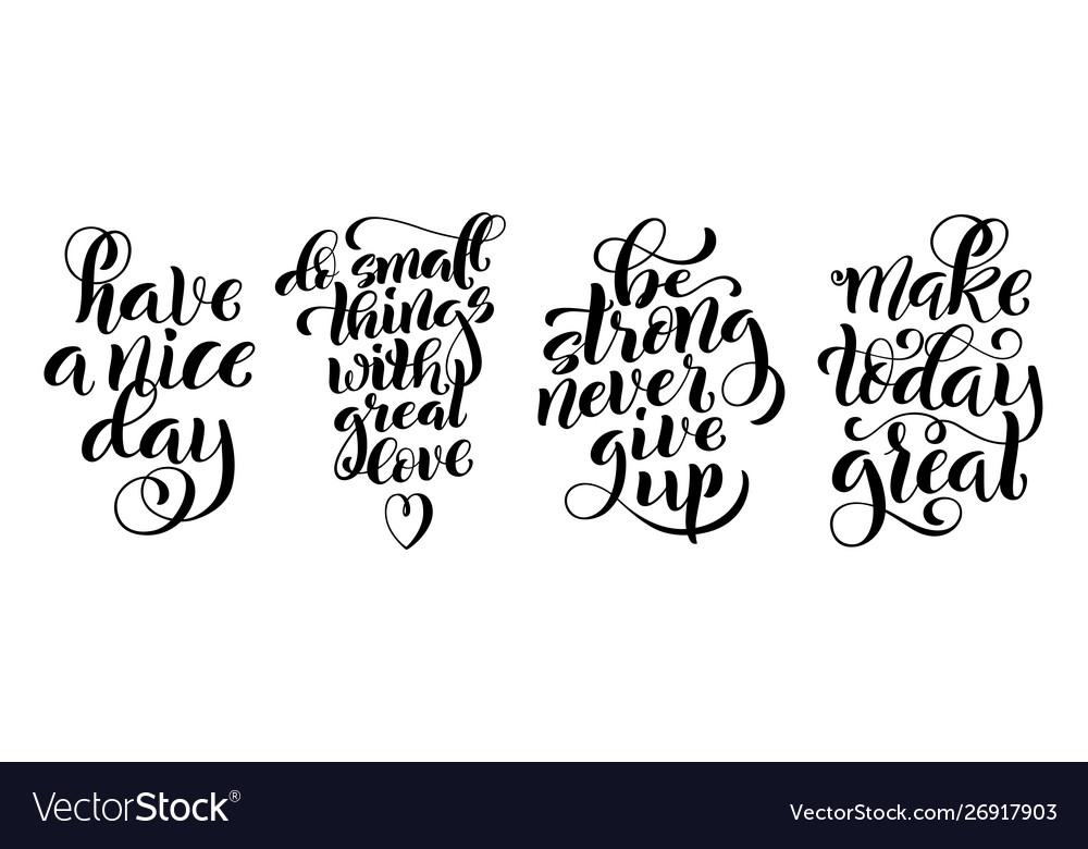 Set inspirational quotes