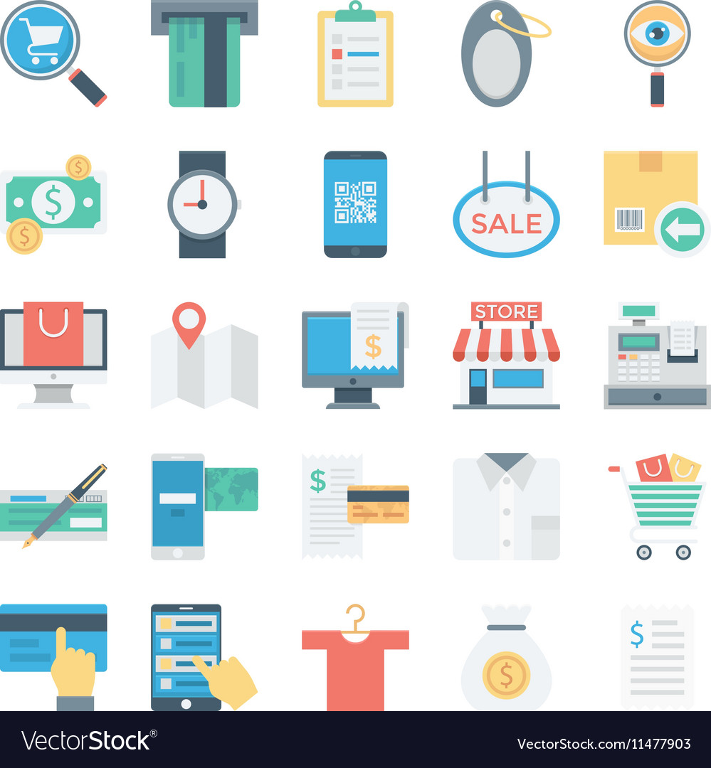 Shopping and E Commerce Colored Icons 4