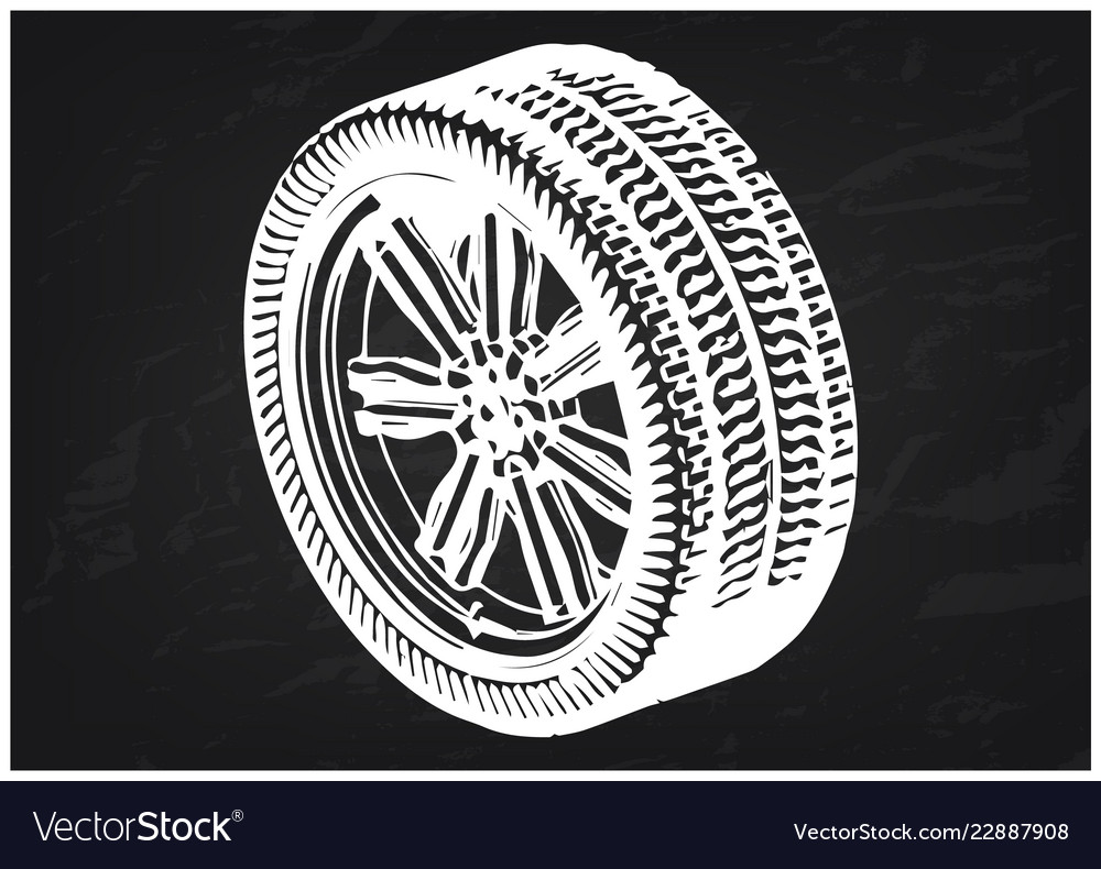 3d model of wheels on a black