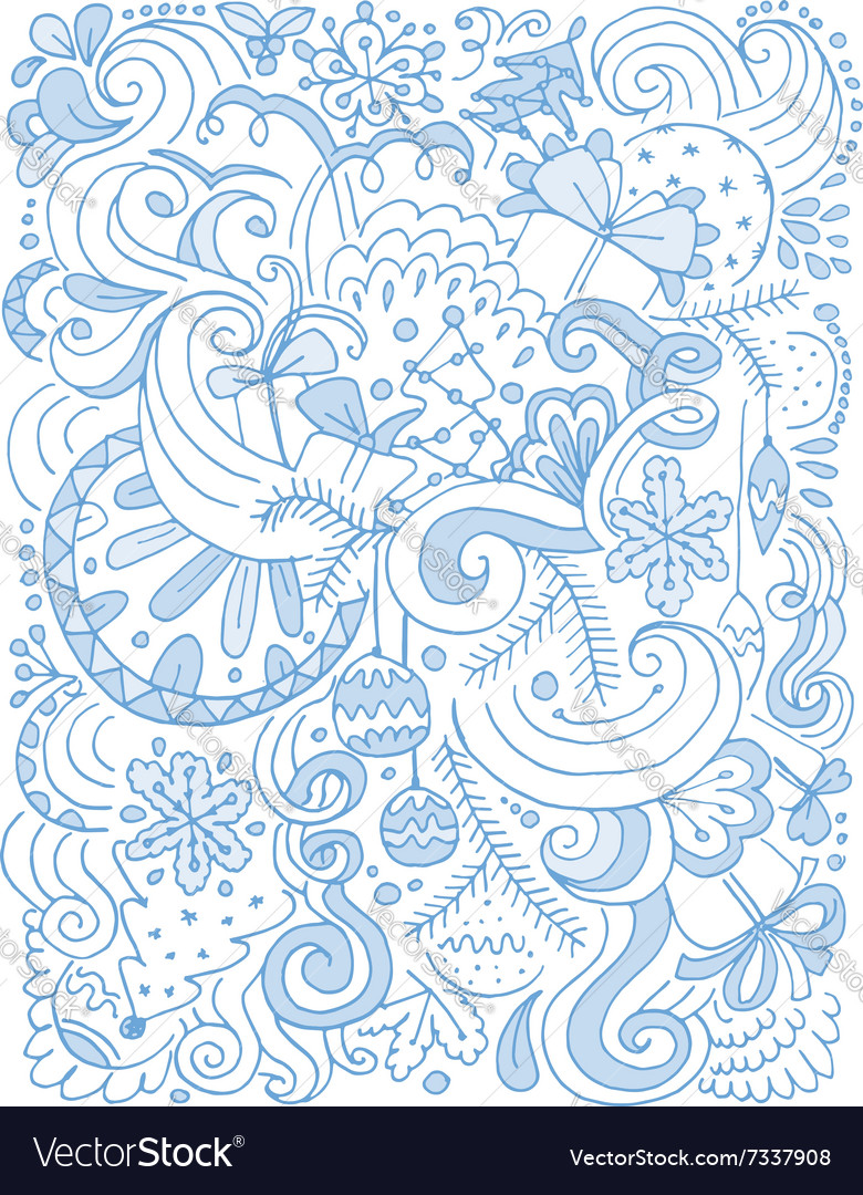 Abstract christmas pattern sketch for your design